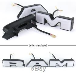 2019-2020 Ram 1500 Mesh Grille Rebelle Avant Style Led Grill Séquentielle Drl Lumière