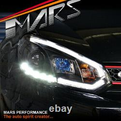3d Bar Drl Led Day-time Projector Phares Pour Volkswagen Vw Golf VI 6 09-13