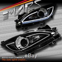 3d Led Drl Double Faisceau Projecteur Phares Pour Mazda 3 Bl 2009-2013 Hatch Sedan