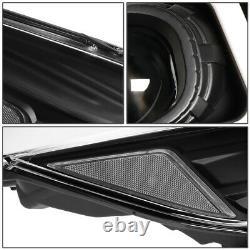 3d Led Drl Light Barfor 13-16 Ford Escape Black Clear Projecteur Lampe Frontale