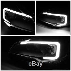 3d Led Drl Lumière Barfor 13-16 Ford Escape Noir Ambre Projecteur Lampe Phare