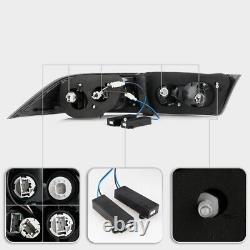 4pcs Intégré-in Résistor Entièrement Led Neon Tube Tail Lumière Noir Pour 04-08 Acura Tsx
