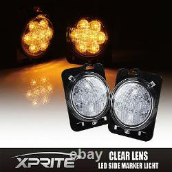 7 Phares Led Cree 75w Avec Turn Signal Fog Side & Taillight Combo Pour Jeep