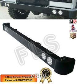 Acier Pare-chocs Avant Led Drl Spot Lights & Rubber Caps Pour Land Rover Defender