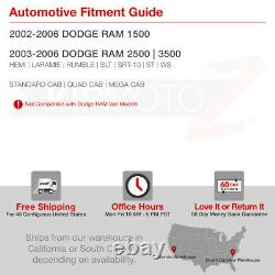Barre De Lumière Led 3dpour 02-06 Dodge Ram 1500 2500 3500 Black Tail Lampe De Frein Léger