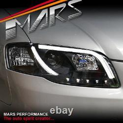 Black 3d Led Stripe Drl Projecteur Phares Pour Audi A4 S4 B7 Berline Avant