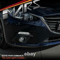 Black Bumper Bar Drl Lights & Led Indicator Turn Signal For Mazda 3 Bm 2013-2016