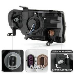 Black Halo Drl Led Lampe De Signalisation Projecteur Phare Pour 08-12 Ford Escape