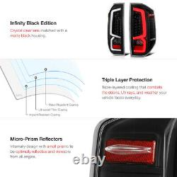 Black Housing Clear Lens Full Led Signal De Freinage Tail Lampe Pour 14-21 Toyota Tundra