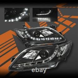 Black Led Drl Projecteur Phares Pour Toyota Camry 06-09 Comprennent Trd Sportivo