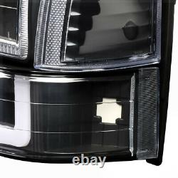 Black/clearled C-bar Drlheadlight+bumper+corner Light Pour 91-94 Ford Explorer