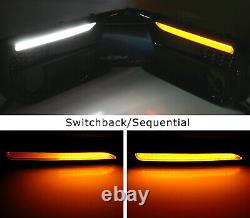 Blanc / Ambre Switchback / Led Séquentielle Fog Bezel Drl Kit Pour 18 Subaru Wrx Jusqu'à / Sti