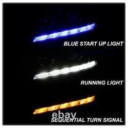 Blue Welcome Light 13-15 Honda Accord Led Séquentielle Avecwhite Drl Phares