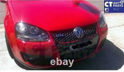 Ccfl Angel Eyes Black Projector Drl Phares Pour 03-08 Vw Golf V Tdi /gti