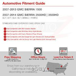 Crie Led Inverser 2007-2013 Gmc Sierra 1500 2500 3500 Sinister Black Tail Light