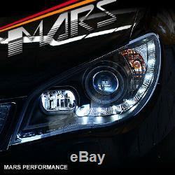 Day-temps Led Noir Drl Projecteur Tête Lumières Pour Subaru Impreza Wrx Sti 05-07 Rx