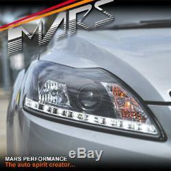 Day-temps Noir Drl Projecteur Led Tête Lumières Pour Ford Focus 09-11 LV