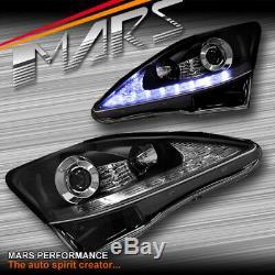 Day-temps Noir Drl Projecteur Tête Lumières Et Indicateur Led Pour Lexus Is250 Is350