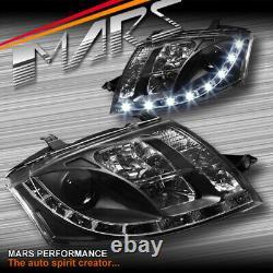 Day-time Drl Led Projecteur Black Head Lights Pour Audi Tt 99-05 8n Rs S-line
