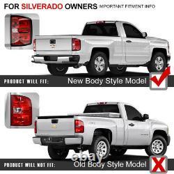 Dernière Design 14-18 Chevy Silverado 1500 2500 3500 Led Black Tail Lights Pair