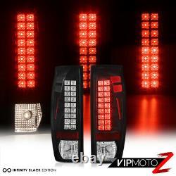 Design Tribal Pour 02-06 Chevy Avalanche Black Led Tail Lampe De Signal De Frein Light