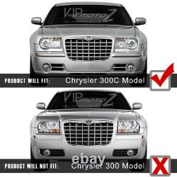 Diamond Black Led Halo Projecteur Drl Phare 2005-2010 Chrysler 300c Srt8
