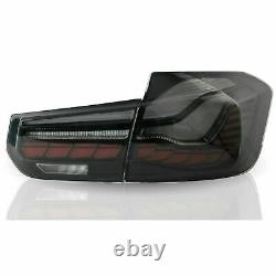 Dragon Scale Black Full Led Sequential Taillights Pour 12-18 Bmw F30 3er F80 M3