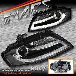 Drl Dual Beam Phares Pour Audi A4 S4 B8 09-12 (modèle Hid Seulement)