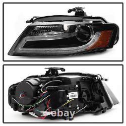 Ensemble Noir Audi A4 B8 2009-2012 Light Bar Drl Projecteur Led Phares Gauche + Droite