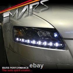 Feux De Tête De Projecteur Led Black Day-time Drl Pour Audi A6 04-11 C6 4f Headlight