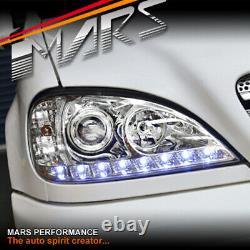 Feux De Tête De Projecteur Led Drl Clairs Pour Mercedes-benz Ml-class W163 1998-2001