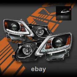 Feux De Tête De Projecteur Led Drl Noirs Pour Lexus Gs300 Gs350 Gs430 Gs450h 2005-2010