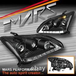 Feux De Tête De Projecteur Led Drl Noirs Pour Lexus Rx330 Rx350 Rh400h 03-08