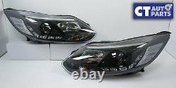 Feux De Tête Noirs De Projecteur De Led Drl Pour 12-15 Ford Focus Lw