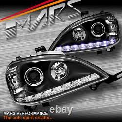 Feux De Tête Noirs De Projecteur De Led Drl Pour Mercedes-benz Ml-classe W163 1998-2001