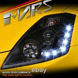 Feux De Tête Noirs De Projecteur De Led Drl Pour Nissan Z33 350z 2003-2005 Fairlady