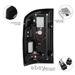 Fiber Optic C-shape Tube Pour 14-18 Chevy Silverado Black Led Tail Brake Light