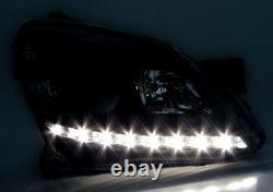 Finition Couleur Noire Led Drl Lumières Phare Set Pour Opel Astra H Twintop