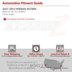 Fit 07-12 Nissan Altima Sedan Darkest Smoke Tint Led Tail Light Remplacement