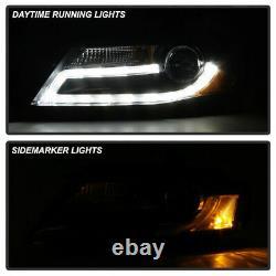 Fit 09-12 Audi A4 B8 Black Drl Halo Led Projecteur Light Bar Phares Lampes