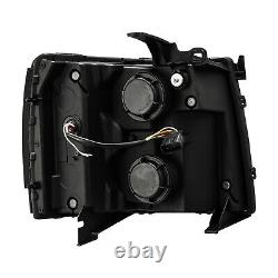 Fit Chevy Silverado 2007-2013 Noir Projecteur Phares Withled Drl + Signal Lumineux