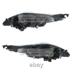 Ford Fiesta Mk7 2008-2013 Black Drl Tête D'oeil Diable Paire De Lampes De Lumière Gauche Et Droite