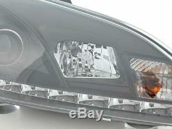 Ford Focus Mk2 (04-08) Noir Drl Diable Angel Eyes Phares Avant Lumières Paire