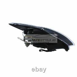 Ford Focus Mk2 2008-2011 Noir Drl Diable Eye Head Light Lamp Paire Gauche Et Droite
