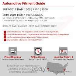Full Black Edition Pour 13-18 Dodge Ram 1500 2500 3500 Led Lampe De Queue De Tube De Lumière