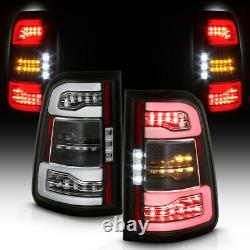 Full Led Black Neon Tube Tail Lampe De Frein De Signal Lumineux Paire Pour 19-21 Ram 1500