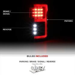 Full Led Tube De Lumière Black Brake Tail Lampe 15-20 Ford F150 Avec Capteur De Tache