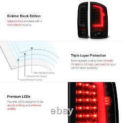 Fume Blanc! Pour 03-06 Dodge Ram 1500 2500 3500 Lampe De Frein À Led Noire Tail Light