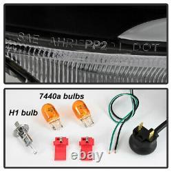 Fumée Noire Pour 04-08 Acura Tsx Led Neon Tube Drl Projecteur Phare L+r