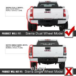 Fumée Noire Pour 07-13 Chevy Silverado Full Led Sequential Neon Tube Tail Light